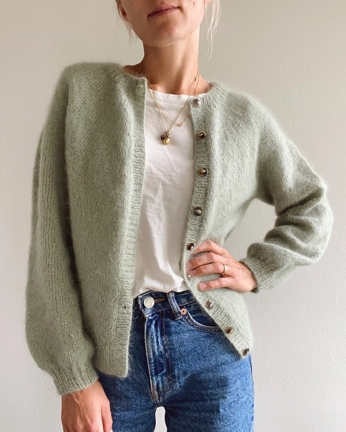 PetiteKnit - Novice Cardigan - mohair edition