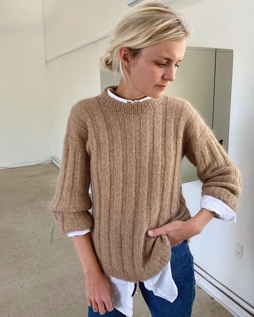 PetiteKnit - Striber på langs-sweater