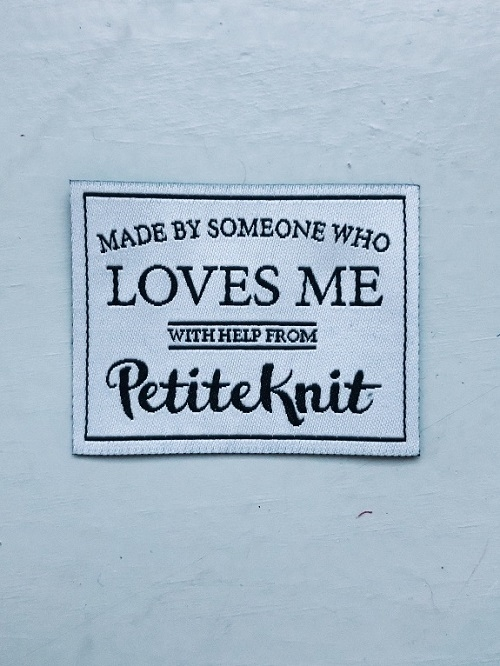 Petite Knit -Label - Made by someone Who Loves me