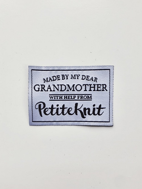 Petite Knit -Label - Made by my Dear Grandmother