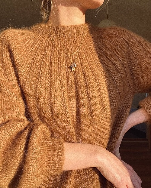PetiteKnit - Sunday Sweater Mohair Edition