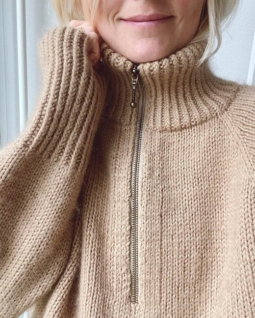 PetiteKnit - Zipper Sweater
